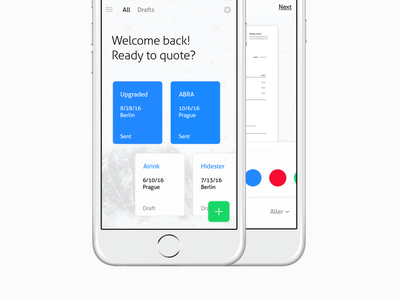 Proposal – User Interface (2016) uxdesign toptal freelance ios prototype concept identity uidesign product experience ux ui user interface iphone