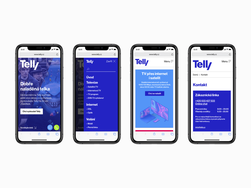 Telly – mobile version new app identity concept ui ux interface studio najbrt iphone user interface