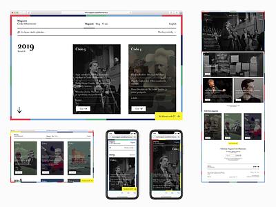 Czech Philharmonic – web concepts 3 web mobile phone user interface najbrt prague czech philharmonic studio najbrt website design identity