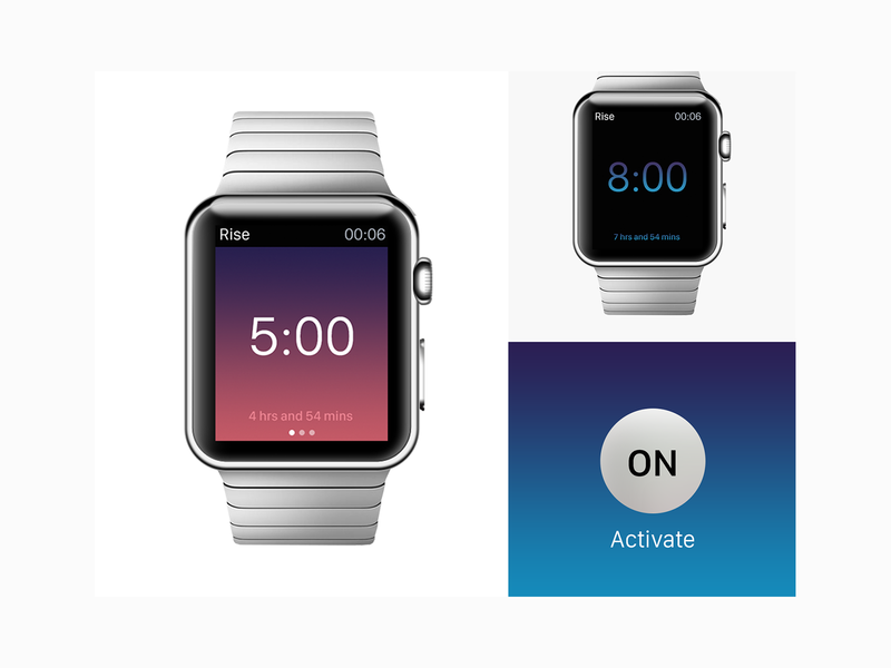 Rise Apple Watch Concept ui user interface design interface application iphone apple pencil rise branding logo apple concept apple design apple watch design apple watch