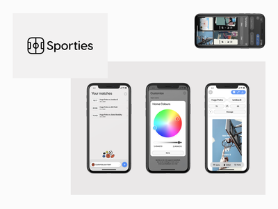 Sporties – branding and interface ios icon logo branding identity concept new ux ui interface app website design iphone user interface