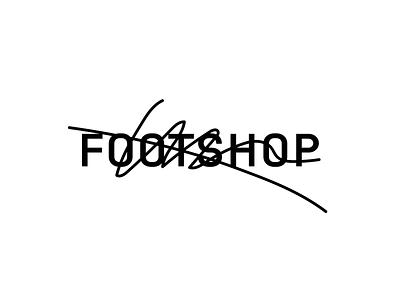 Footshop – logo variants prague art direction art logotype scribble underconsideration variable vector typography branding interface najbrt illustration logo studio najbrt