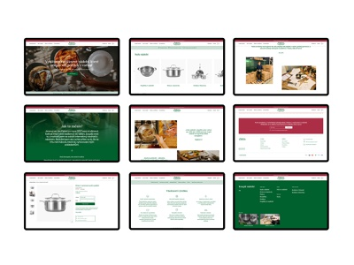 Fabini – website overview 1 shopify overview pans pots collaboration logo fabini new identity ux ui interface app website iphone design user interface