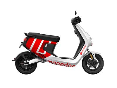 Mopedoo – identity concepts (2018) new logos custom typeface stripes branding concept archive branding and identity livery logo branding app mopedoo scooter