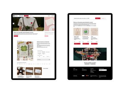 Ambiente – gift shop redesign 1 restaurant foot redesign ambiente identity ui ux interface studio najbrt app website design iphone user interface