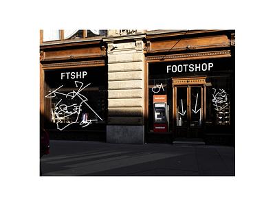Footshop retail space design identity branding retail underconsideration customtype identity design studio najbrt custom najbrt foot new identity footshop