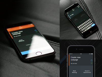 To-Day productivity animation countdown gestures swipe today task app ui add new lists grey
