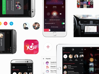 Youradio – elements website design element carplay auto android app branding iphone archive photoshop user interface cleevio app youradio