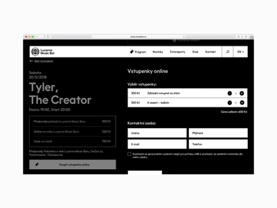 Lucerna Music Bar – animations and interactions lucerna ui branding identity awwwards interaction goout prague lucerna music club club design website studio najbrt logo user interface