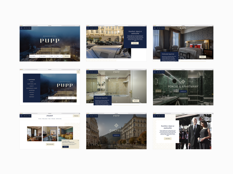 Pupp – website preview content style ux ui web restaurant hotel presentation website user interface