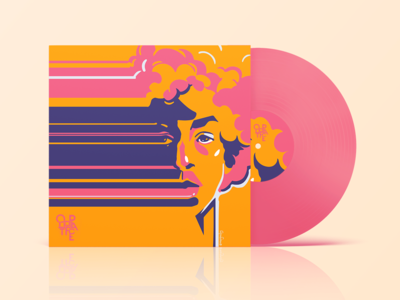 Out of Place - Upcoming album art austin vinyl record record cover musician vector art mockup album art music portrait vinyl vector design illustration