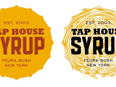 Tap House Concepts mustard yellow woodgrain slab serif