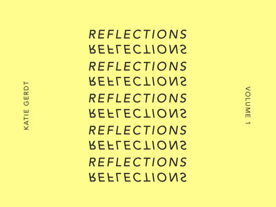 Reflections –Unused Cover Art print typographic black and white typography