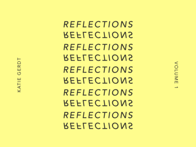 Reflections – Unused Cover Art print typographic black and white typography