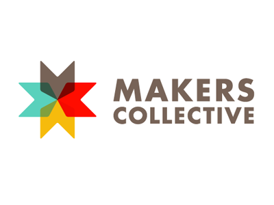 Makers Collective Logo maker multi-color color flags