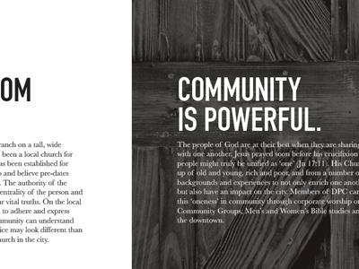 Brochure Type typography brochure duotone