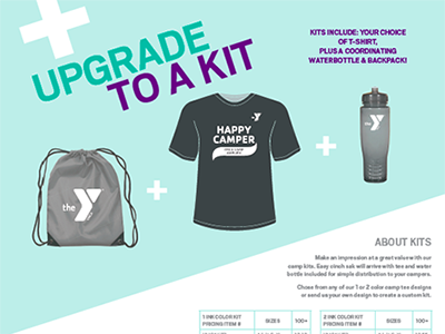 YMCA Promo diagonal direct mail tees ymca