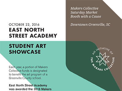 art showcase makers collective poster art simple overlap