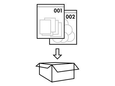 bags in a box technical illustration one color black and white linework illustration