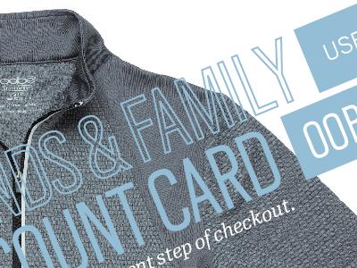 Discount Card blue print card