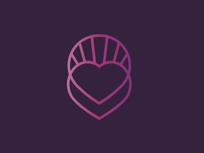 Midwifery Logo overlap purple pink gradient heart design logo