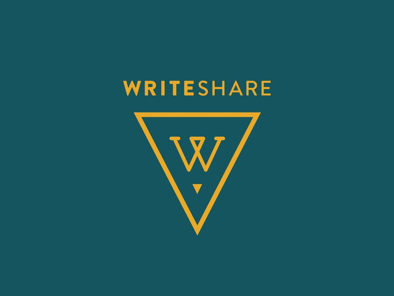 WriteShare Logo writers writing writeshare logo yellow pencil triangle