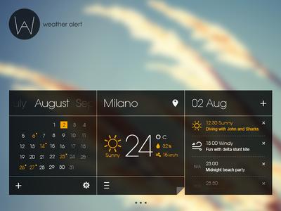 weather alert *random mini screens