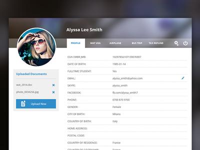 Admin User Profile