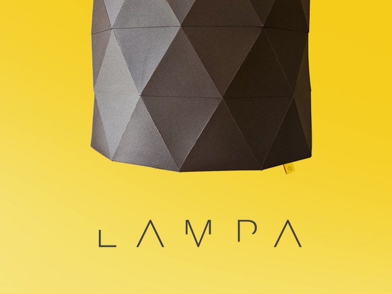 | LAMPA | logo gold lable triangle minimal logo lamp