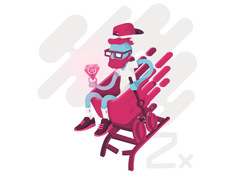 2x dribbble hipster diamond cart coaster draft giveaway dribbbler become dribbble 2x invite invitation