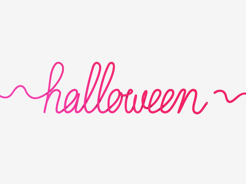 halloween type lettering illustration hand-lettering handwriting font typography type halloween