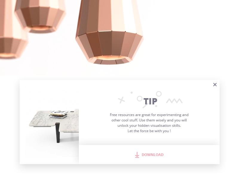 TIP / info popup designconnected minimal modal info tip popup