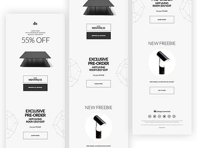 Newsletter geometry white black minimalist minimal newsletter