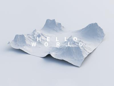 Hello World // Terrain Exploration