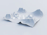 Hello World // Terrain Exploration