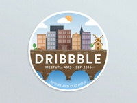Dribbble Meetup Amsterdam Sticker