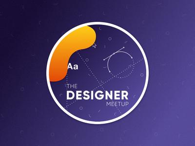 Designer Meetup Sticker theme design-elements cursor amsterdam illustration sharing team design meetup sticker