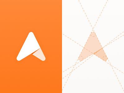Side Project Logo brand-identity abstract-logo bright-logo orange brand-design sketch ux-design ui-design app lines gradient logo