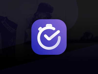 Meauve Interval Timer Logo side-project timer ux-design ui-design sketch purple logo bright-logo brand-identity brand-design app abstract-logo