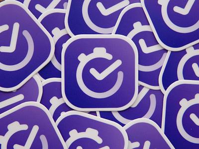 Meauve Logo Sticker Collection abstract-logo app brand-design brand-identity bright-logo logo purple sketch ui-design sticker timer side-project