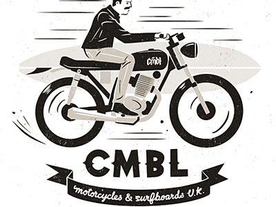 CMBL badass surfboard motorcycle cmbl leather jacket biker motorbike