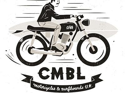 CMBL badass surfboard motorcycle cmbl leather jacket biker motorbike