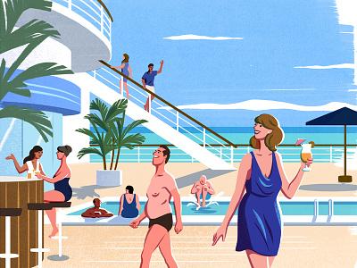 Telegraph sea speedos cocktail cruise swimming pool holiday cruiseship