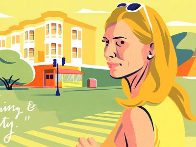 BAFTA 2016 filmawards yellow actress sanfrancisco cateblanchett bluejasmine filmillustration film cinema bafta
