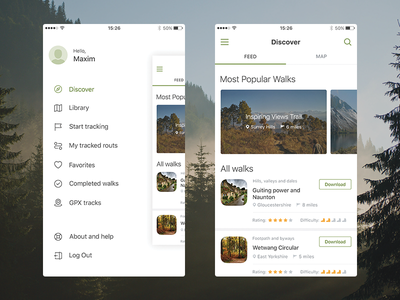 Traveller App ux ui guide walking travel minimal ios interface icon flat application app