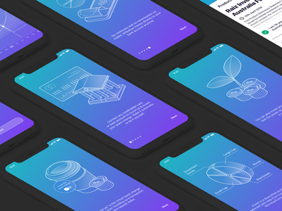 Investment App - Onboarding investment onboarding 3d illustration money finance app app vector illustration application appdesign ux ui interaction ios interface