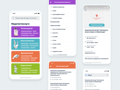 Hackathon: Medicine MVP app for our city appdesign illustration minimal interface ux ui 3d ios mobile app service search doctor category hackathon medecine