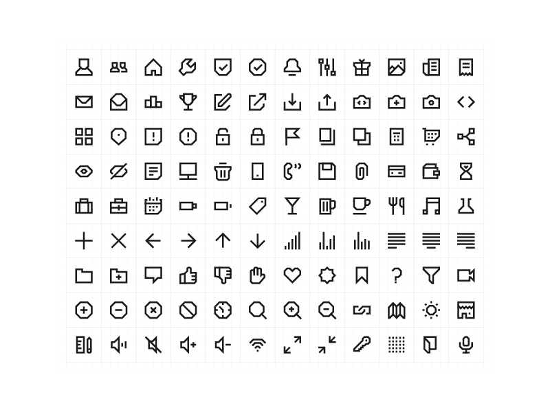 108 Geometric Line Icons by Andy Kelly on Dribbble