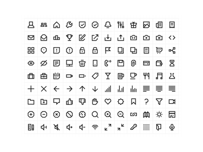 108 Geometric Line Icons web app ui illustration custom chunky thick line free geometric set icon
