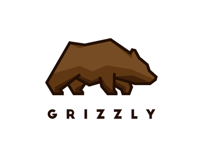 Grizzly Bear mark lines thick brand sharp animal logo brown bear grizzly